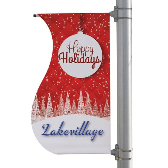 """24"""" X 48"""" Double-Sided S-Shaped Pole Banner"""