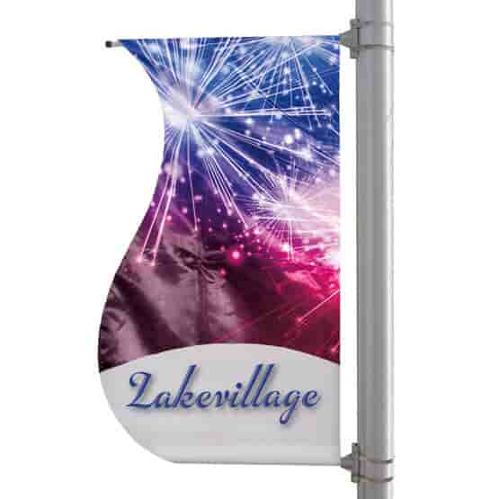 """30"""" X 60"""" Double-Sided S-Shaped Pole Banner"""