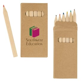 Natural Finish Colored Pencil Set