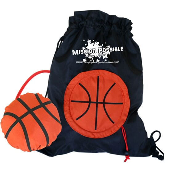 Basketball Drawstring With Stowaway Pouch