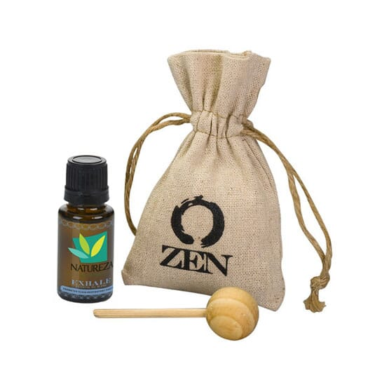 Essential oil ven set with logo on bag