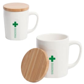 15 oz Tea Mug with Bamboo Lid