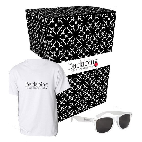 T-Shirt And Sunglasses Combo Set With Custom Box