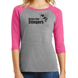 District Made® Ladies' Perfect Tri™ 3/4 Sleeve Tee