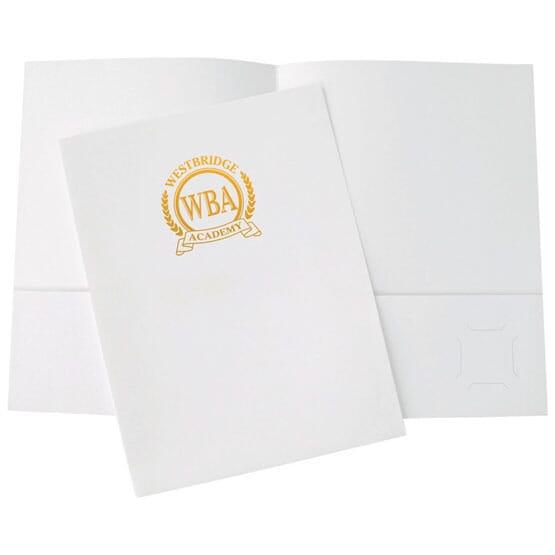 White Gloss Folder