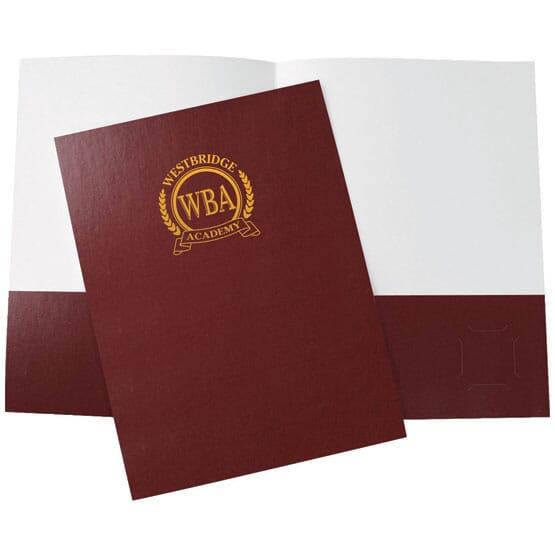 Burgundy glossy folder