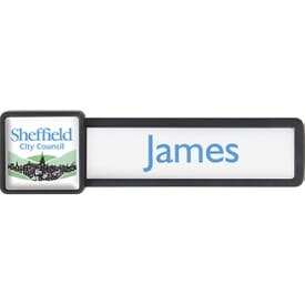 Square Reusable Magnetic Badge