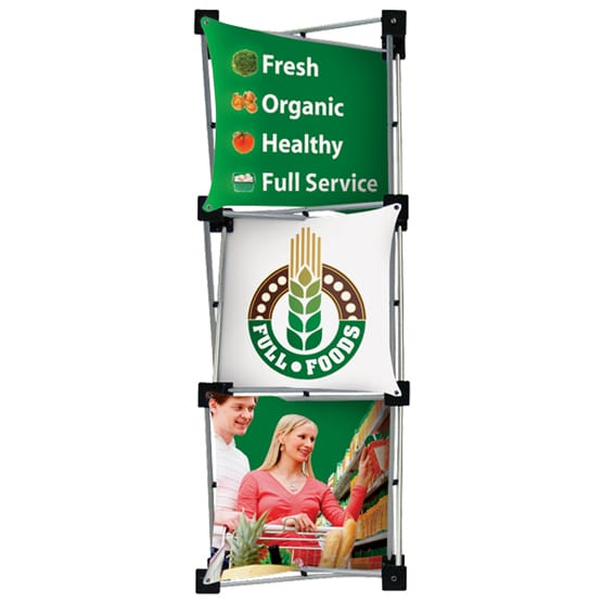 large stand up banner display