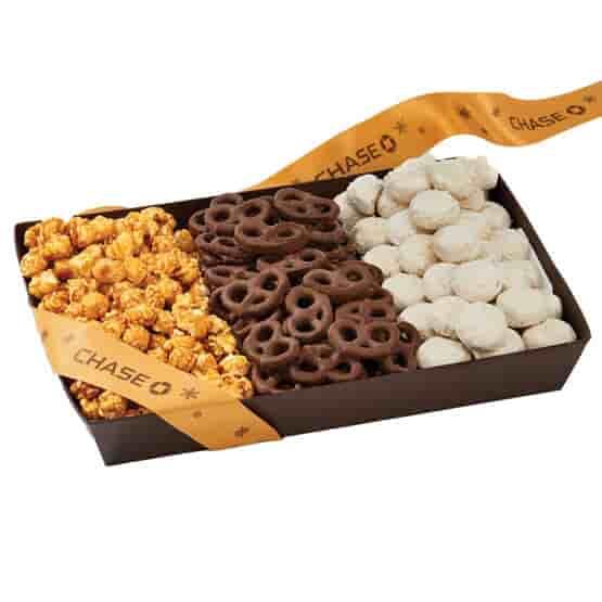 Snack Tray - Popcorn, Pretzels, & Cookies