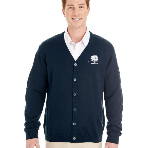 Harriton® Pilbloc™ V-Neck Button Cardigan Sweater- Men's