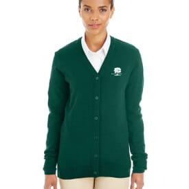 Harriton® Pilbloc™ V-Neck Button Cardigan Sweater- Ladies'