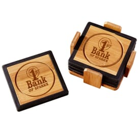 Color Pop Bamboo Coasters