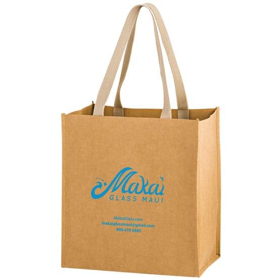 Washable Kraft Paper Bag - 12 x 13 x 8