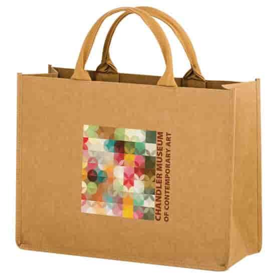 Full Color - Washable Kraft Paper Bag - 16 X 12 X 6