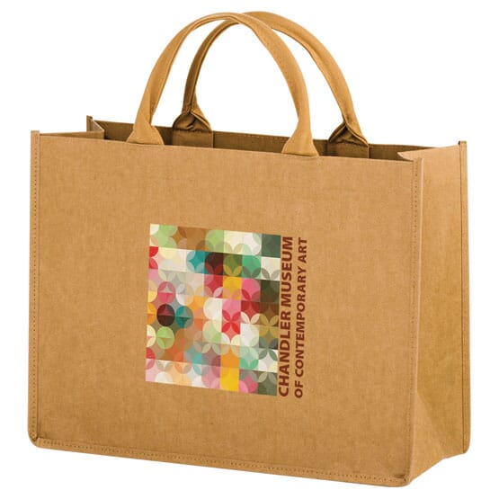 Full Color - Washable Kraft Paper Bag - 16 X 12 X 6