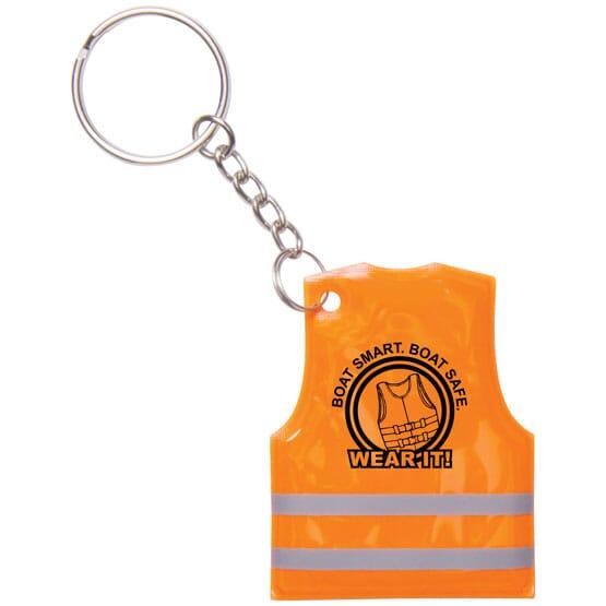 Safety Vest Reflective Keychain
