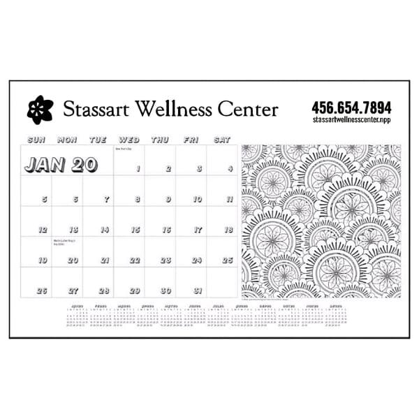 2020 Desktop Calendar & Doodle Pad