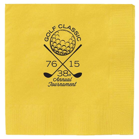 Colored 1/4 Fold Dinner Napkin