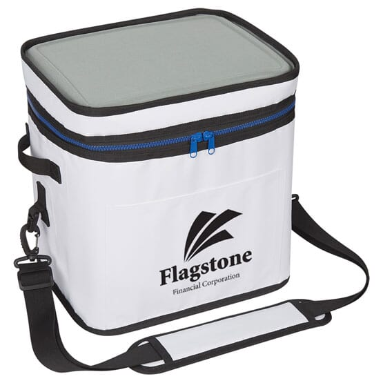 Keep food and beverages cool in the Kodiak Performance Cooler Bag that is made of durable PVC tarpaulin and 900-denier nylon.