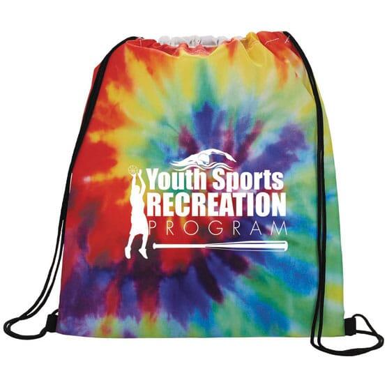 Funky Tie-Dye Drawstring Backpack