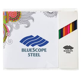 Deluxe Adult Coloring Book And Pencil Set