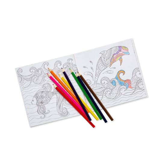 - Deluxe Adult Coloring Book And Pencil Set - Promotional Giveaway Crestline