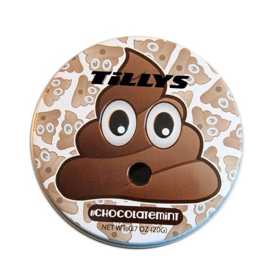 Emoji Chocolate Mints Tin - Pile Of Poo