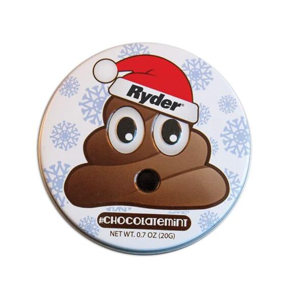 Emoji Chocolate Mints Tin - Santa Pile Of Poo