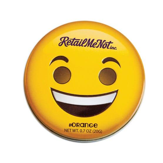 Emoji Orange Mints Tin - Smiley Face