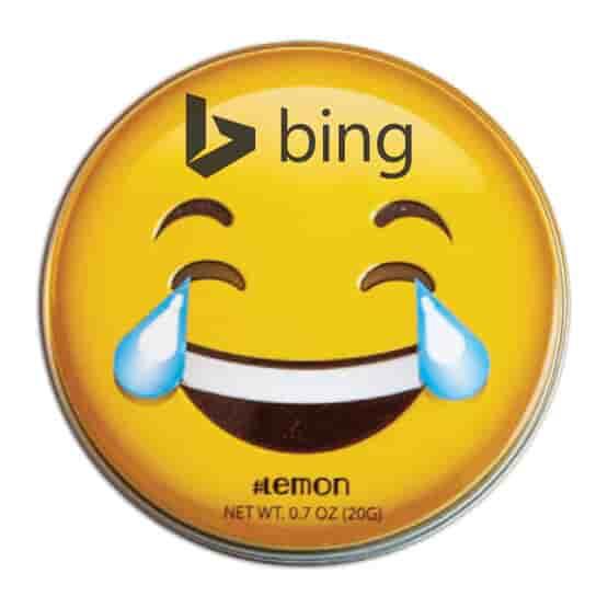 Emoji Lemon Mints Tin- Laughing