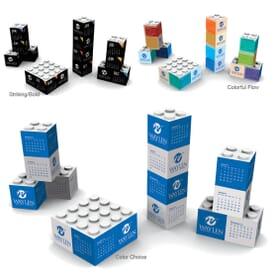 2020 3D Shapes Triumph® Desk Calendar- Building Blocks
