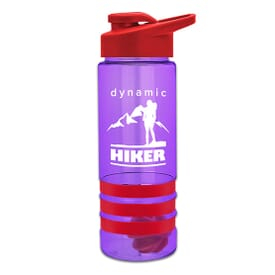 24 Oz. Color Band Water Bottle With Mixing Ball