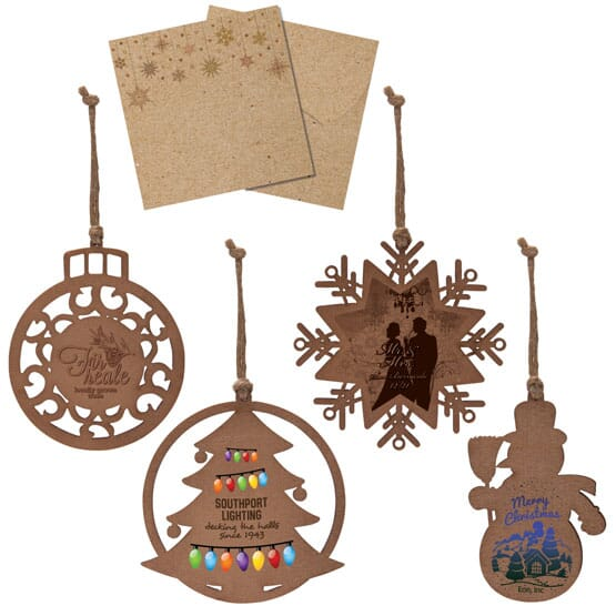Customized wooden ornaments