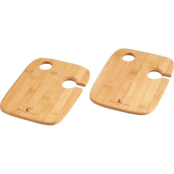 Bamboo Wine And Cheese Plate Set