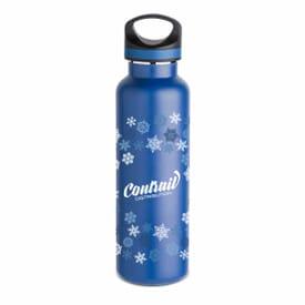 20 oz Basecamp® Insulated Bottle- Blue Snowflake