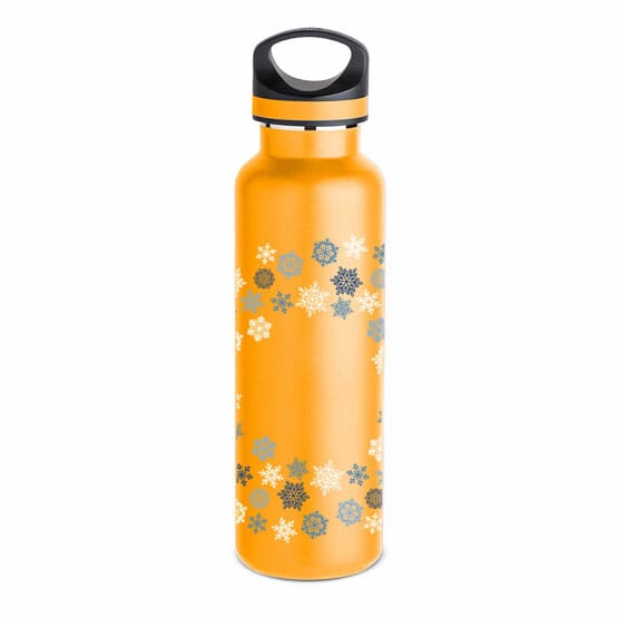 20 oz Basecamp® Insulated Bottle- Blue Snowflake