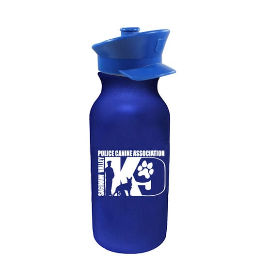 20 oz Water Bottle with Police Hat Lid