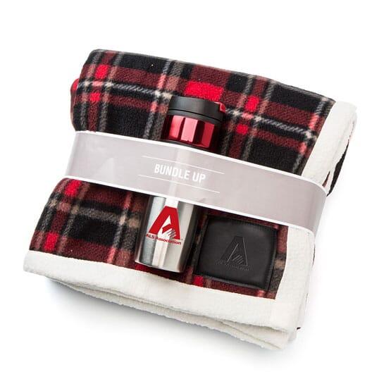 Plaid Blanket Tumbler Set