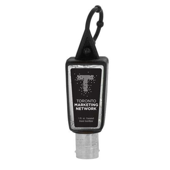 1 oz Sanitizer with Silicone Carabiner