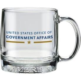 12 oz Patriotic Glass Mug