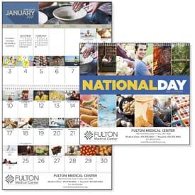 2020 National Days Wall Calendar
