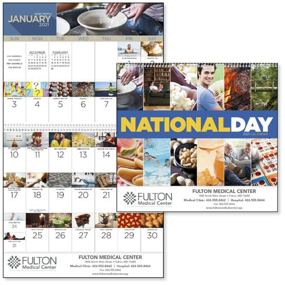 wall calendar with holidays