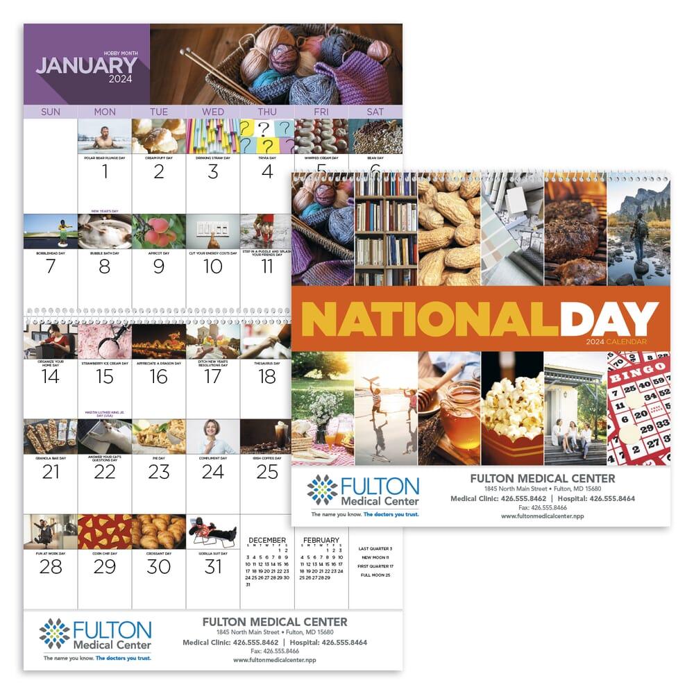 National Days Calendar 2020 2020 National Days Wall Calendar   Promotional Giveaway | Crestline