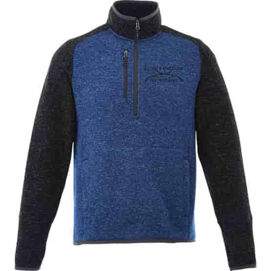 Half Zip Sweater Knit Jacket - Men's