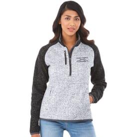 Half Zip Sweater Knit Jacket - Women's