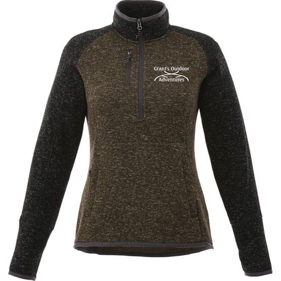 Half Zip Sweater Knit Jacket-Women's