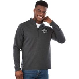 Washable Wool Quarter Zip Pullover - Men's