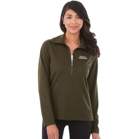 Washable Wool Quarter Zip Pullover - Women's
