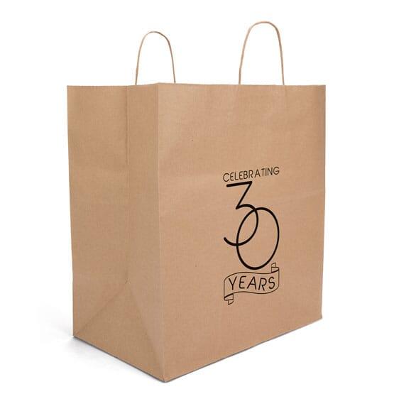 Kraft paper takeout bag