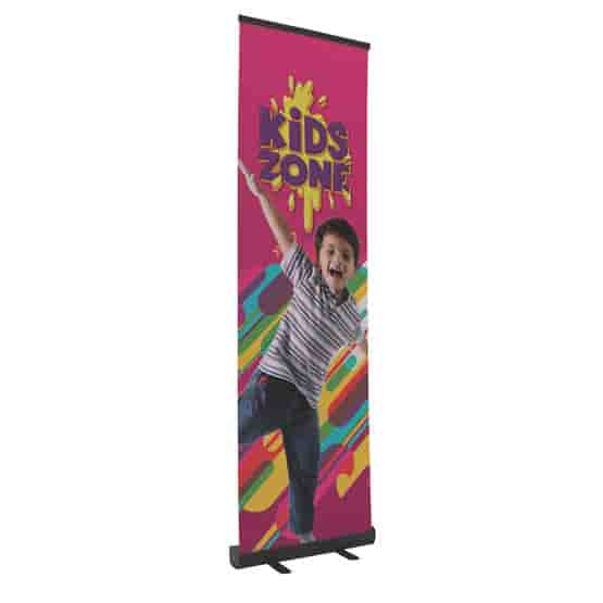 """24"""" Banner Retractor Kit with No-Curl Opaque Fabric"""